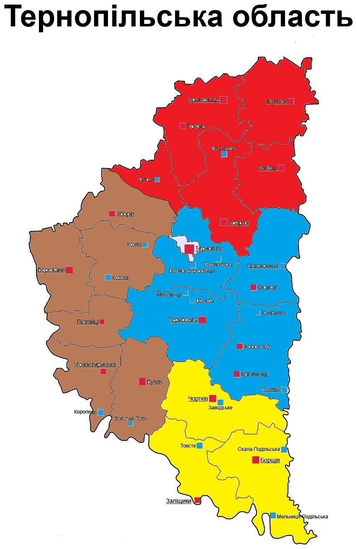 Тернопольская область на карте украины фото